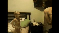 The dad who got his son to take part in this Street Fighter II routine.