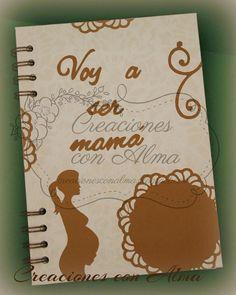 Diario de embarazo en beige y marrón. http://creacionesconalma.blogspot.com.es/2014/09/diario-de-embarazo-marron.html