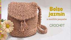 Bolso Jazmín (mochila pequeña) tejido a crochet / Tejiendo Perú