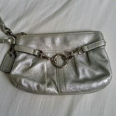 I just discovered this while shopping on Poshmark: AUTHENTIC Coach wristlet. Check it out! Price: $30 Size: OS