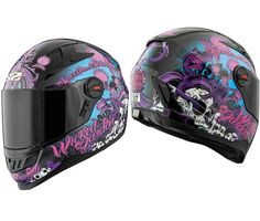 Speed and Strength - SS1300 Wicked Garden Black Helmet
