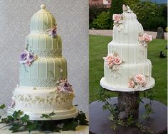 birdcage cake by planet cake uk and also by Life Is What You Bake It