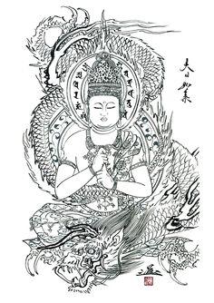 Sketch by the master himself: Horiyoshi III