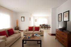 Living Room Beige Tile Grey Wall