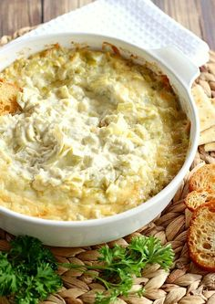 This Artichoke Dip is made with few ingredients, but is really THE best artichoke dip ever. This original is the classic for good reason.