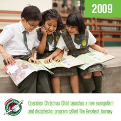 """If you packed a shoe box in 2009, your gift may have been one of the first to be followed up with OCC's discipleship program """"The Greatest Journey""""."""