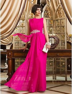 Loving the color from this glamorous floor-length dress. Wear or not? Click for more details.