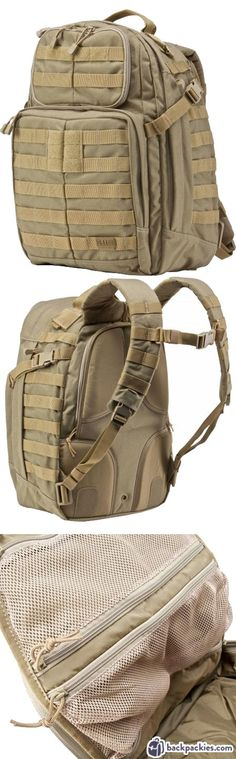 5.11 Rush 24 MOLLE Backpack - Best backpack for CrossFit - Learn more at https://backpackies.com/blog/best-crossfit-backpack