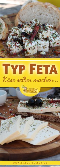 Make feta yourself - - Homemade Cake Recipes, Thanksgiving Appetizers, Pumpkin Spice Cupcakes, Cinnamon Cream Cheeses, How To Make Cheese, Frozen Desserts, Cakes And More, Fall Recipes, Eat Cake