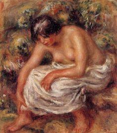 Bathing - Pierre-Auguste Renoir