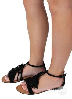 Sand In My Shoes Sandals in Black | Monday Dress Boutique