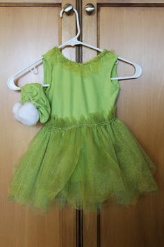 Home-made Tinkerbell costume for a little girl