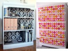 To Do List - Mod Podge~Love the White w/ black & white interior design!