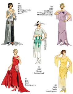 Welcome to Dover Publications: 120 Great Fashion Designs, 1900s Fashion, Vintage Fashion, Belle Epoque, Roaring 20s Fashion, Roaring Twenties, Style Année 20, Vintage Dresses, Vintage Outfits, 1920s Costume