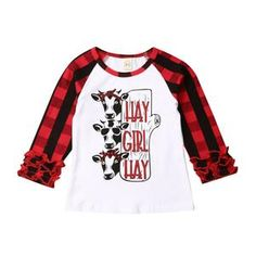Christmas Xmas Kids Baby Boys Girls Long Sleeve Tops T-shirt Tops Clothes Blouse Kids Outfits Girls, Shirts For Girls, Girl Outfits, Girls Long Sleeve Tops, Long Sleeve Shirts, Casual T Shirts, Casual Tops, Kids Clothes Sale, Baby Girl Sweaters