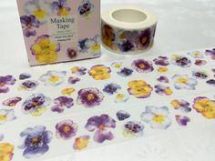 Purple flower washi tape 10M x 2CM pretty flower by TapesKingdom