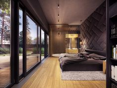 A rustic home does not have to mean a secluded cabin in the woods. The home featured in this post, from visualizer Plasterlina includes rustic elements like lot