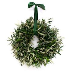 "18"" Olive Branch Wreath, Dried $59.00"