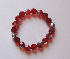 Burgundy Colors Swarovski Crystal Sterling Silver by SevimsDesign, $19.90