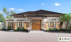 Modern Bungalow House, Bungalow House Plans, House Plans Mansion, Dream House Plans, House Layout Plans, House Layouts, House Paint Exterior, Dream House Exterior, Philippines House Design