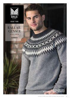 Sport - Ravelry: Rallar-genser pattern by Dale Garn Fair Isle Knitting Patterns, Knitting Designs, Knit Patterns, Knitting Projects, Knitting Charts, Icelandic Sweaters, Wool Sweaters, Nordic Sweater, Men Sweater