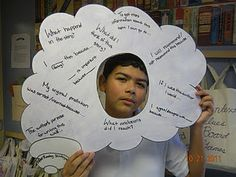Thought bubbles.... help kids examine what they are thinking as well as realize that others are having thoughts too.