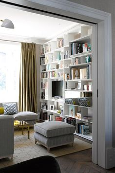 See all our stylish living room design ideas, including this snug with modern B&B Italia Bookshelf.