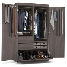 Shop for Pur by Bestar Armoire with Pullout Shoe Rack. Get free delivery On EVERYTHING* Overstock - Your Online Furniture Shop!