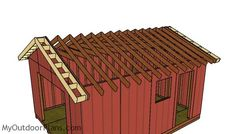 This step by step diy woodworking project is about a gable shed roof plans. This is PART 2 of the large storage shed project, where I show you how to build the gable roof. This roof has a pitch, but you can adjust it super easily. Woodworking Projects Diy, Woodworking Plans, Building A Shed Roof, Shed Frame, Roof Trim, Drip Edge, Asphalt Roof Shingles, Shed Doors, Storage Shed Plans