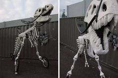 Game Over, Bikers. This Jurassic T-Rex Tricycle Just Won the Day