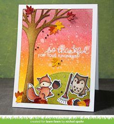 Nichol Spohr LLC: Lawn Fawn August Inspiration Week | Jump For Joy + Leafy Backdrops