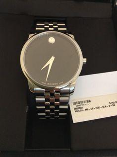 Movado Watch, Men's Swiss Museum Stainless Steel Bracelet 40Mm 0606504