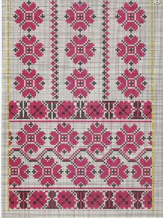 Just Cross Stitch, Beaded Cross Stitch, Cross Stitch Borders, Cross Stitch Samplers, Cross Stitch Designs, Cross Stitch Patterns, Folk Embroidery, Cross Stitch Embroidery, Embroidery Patterns
