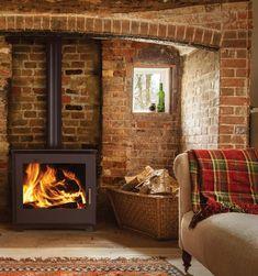 Stratford Ecoboiler Wood boiler stove | Stovesonline Boiler Stoves, Cheap Energy, Log Store, Air Supply, Log Burner, Central Heating, Heating Systems, New Builds, Traditional House