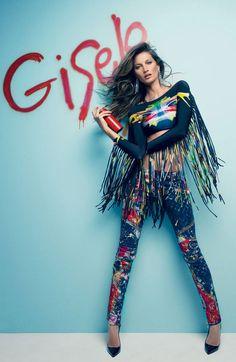 Graffiti Prints | Gisele Bundchen in Vogue Brazil July 2012 Fashion editorial.