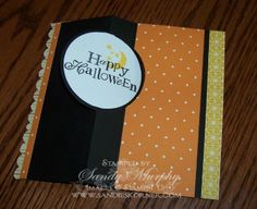 Stampin Ups New Thinlets Circle Die Halloween Card Holiday Catalog