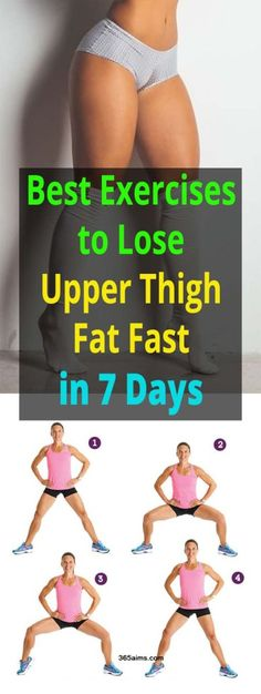 Best Exercises to Lose Upper Thigh Fat Fast in 7 Days – 365 Aims Health And Fitness Tips, Fitness Diet, Fitness Motivation, Health Tips, Thinner Thighs, Lose Thigh Fat, Thigh Exercises, Leg Workouts, Quick Workouts