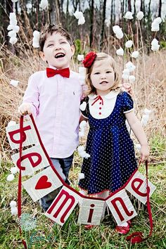 cute valentine's day photo (Had to repin for you Loria Crews! Your kids are ADORABLE!)