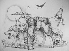 Dire Wolf Pack - By Arthur Bowling