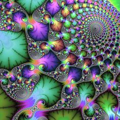 Abstract fractal art, fascinating jewel colored spirals and floral elements. Available as poster, framed fine art print, metal, acrylic or canvas print. Matthias Hauser fractal-art-prints.com - Fractal Art for your Home Decor and Interior Design needs.