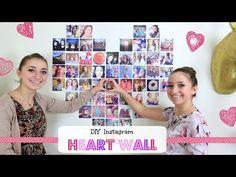 DIY Instagram Heart wall #DIY #instagram #heartwall #heart