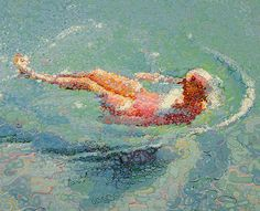 cool painting of a swimmer