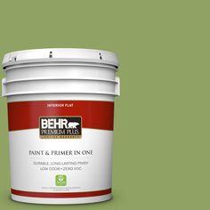 BEHR Premium Plus 5 gal. #PPU10-04 New Bamboo Zero VOC Flat Interior Paint