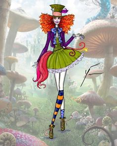 Alice in Wonderland: 'Mad Hatter' by Yigit Ozcakmak - inspiration Alice In Wonderland Costume, Wonderland Party, Fashion Design Drawings, Fashion Sketches, Disney Style, Disney Art, Costume Halloween, Mad Hatter Costumes, Mad Hatter Cosplay