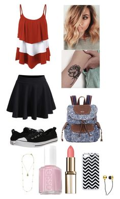 """""""Tank Top Pretty!!! ❤️❤️💋"""" by theladylotus727 on Polyvore featuring WithChic, Converse, Sakroots, Essie, CUL-DE-SAC and Karen Kane"""