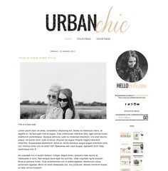 Premade Blogger Template Blog Design for di BrandMeBeautiful