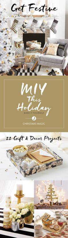 The perfect holiday party or gathering starts with unique décor. Make your home an unforgettable sight this holiday season with the inspiring make-it-yourself projects in Jo-Ann's Christmas Magic Maker's Guide.