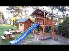 W ogrodzie. Plac zabaw dla dzieci. - YouTube