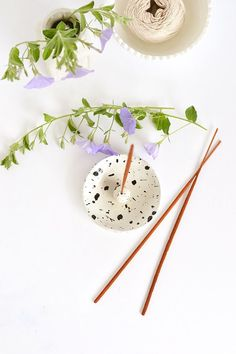 DIY clay incense holder
