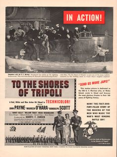 1942 Movie print ad To The Shores Of Tripoli by catchingcanaries, $8.00